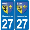 27 Nassandres coat of arms sticker plate stickers city