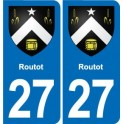 27 Routot coat of arms sticker plate stickers city