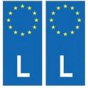 Luxembourg Lëtzebuerg europe autocollant plaque