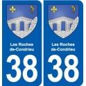 38 Moirans blason ville autocollant plaque stickers