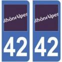 42 Loire autocollant plaque