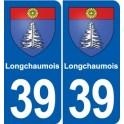 39 Longchaumois sticker plate emblem stickers department