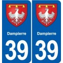 39 Orgelet autocollant plaque blason stickers département