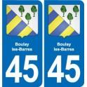 45 Chaingy blason ville autocollant plaque stickers