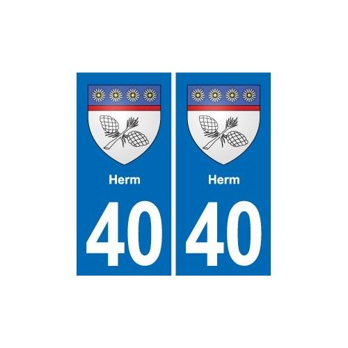 40 Léon autocollant plaque blason stickers département ville