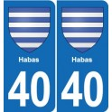 40 Habas sticker plate emblem stickers department city