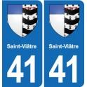 41 Saint-Viâtre coat of arms, city sticker, plate sticker department city
