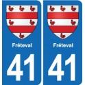 41 Fréteval blason ville autocollant plaque stickers département ville