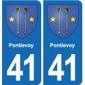 41 Pontlevoy coat of arms, city sticker, plate sticker department city
