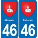 46 Luzech blason autocollant plaque stickers ville