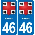 46 Salviac coat of arms sticker plate stickers city