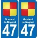 47 Gontaud-de-Nogaret coat of arms sticker plate stickers city
