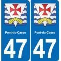 47 Estillac blason autocollant plaque stickers ville