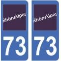 73 Savoie autocollant plaque