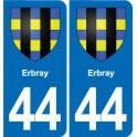 44 Héric blason ville autocollant plaque stickers