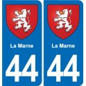 44 The Marne coat of arms, city sticker, plate sticker