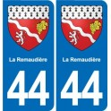 44 The Remaudière coat of arms, city sticker, plate sticker
