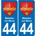 44 Maisdon-sur-Sèvre coat of arms, city sticker, plate sticker