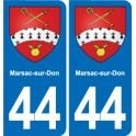 44 Marsac-sur-Don blason ville autocollant plaque stickers
