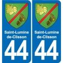 44 Saint-Lumine-de-Clisson coat of arms, city sticker, plate sticker