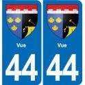 44 Vue blason ville autocollant plaque stickers