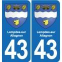 43 Lempdes-sur-Allagnon blason autocollant plaque immatriculation ville