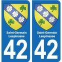 42 Villerest blason ville autocollant plaque stickers