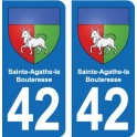 42 Sainte-Agathe-la-Bouteresse blason ville autocollant plaque stickers