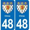 48 Mende blason autocollant plaque stickers ville