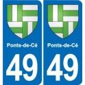 49 Ponts-de-Cé coat of arms sticker plate stickers city