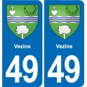 49 Vezins coat of arms sticker plate stickers city