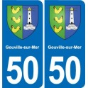 50 Gouville-sur-Mer coat of arms sticker plate stickers city
