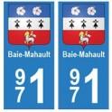 971 Baie-Mahault autocollant plaque