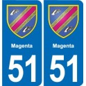 51 Magenta coat of arms sticker plate stickers city