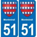 51 Montmirail blason autocollant plaque stickers ville