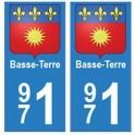 971 Basse-Terre autocollant plaque