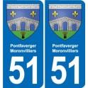 51 Fagnières blason autocollant plaque stickers ville