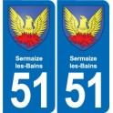 The 51-Sermaize-les-Bains coat of arms sticker plate stickers city