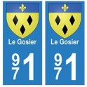 971 Le Gosier autocollant plaque