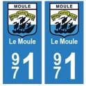 971 Le Moule autocollant plaque