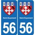 56 Saint-Guyomard coat of arms sticker plate stickers city