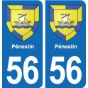 56 Pénestin blason autocollant plaque stickers ville