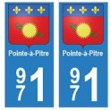 971 Pointe-à-Pitre autocollant plaque