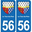 56 The Turn-of-the-Park coat of arms sticker plate stickers city