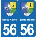 56 Ploërmel blason autocollant plaque stickers ville