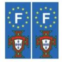Portugal FPF F autocollant