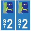972 Ducos autocollant plaque