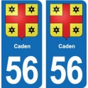 56 Caden coat of arms sticker plate stickers city