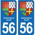 56 Guemene-sur-Scorff coat of arms sticker plate stickers city
