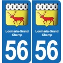 56 Locmaria-Grand-Champ coat of arms sticker plate stickers city